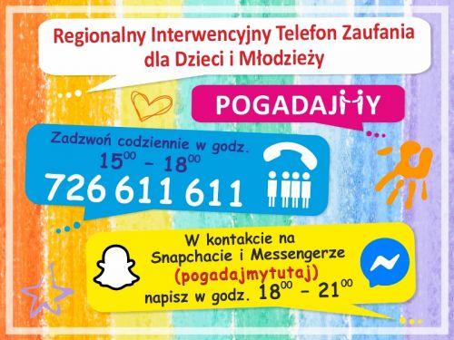 Czytaj więcej: Regionalny Interwencyjny Telefon Zaufania dla Dzieci i Młodzieży